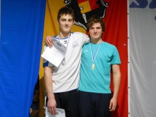Andreas Rein (li.) und Lars Grundheber bei der Siegerehrung
