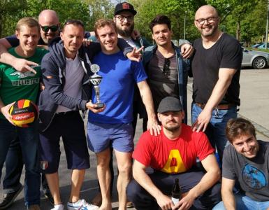 Wasserballer beim Wasserballpokal in Augsburg