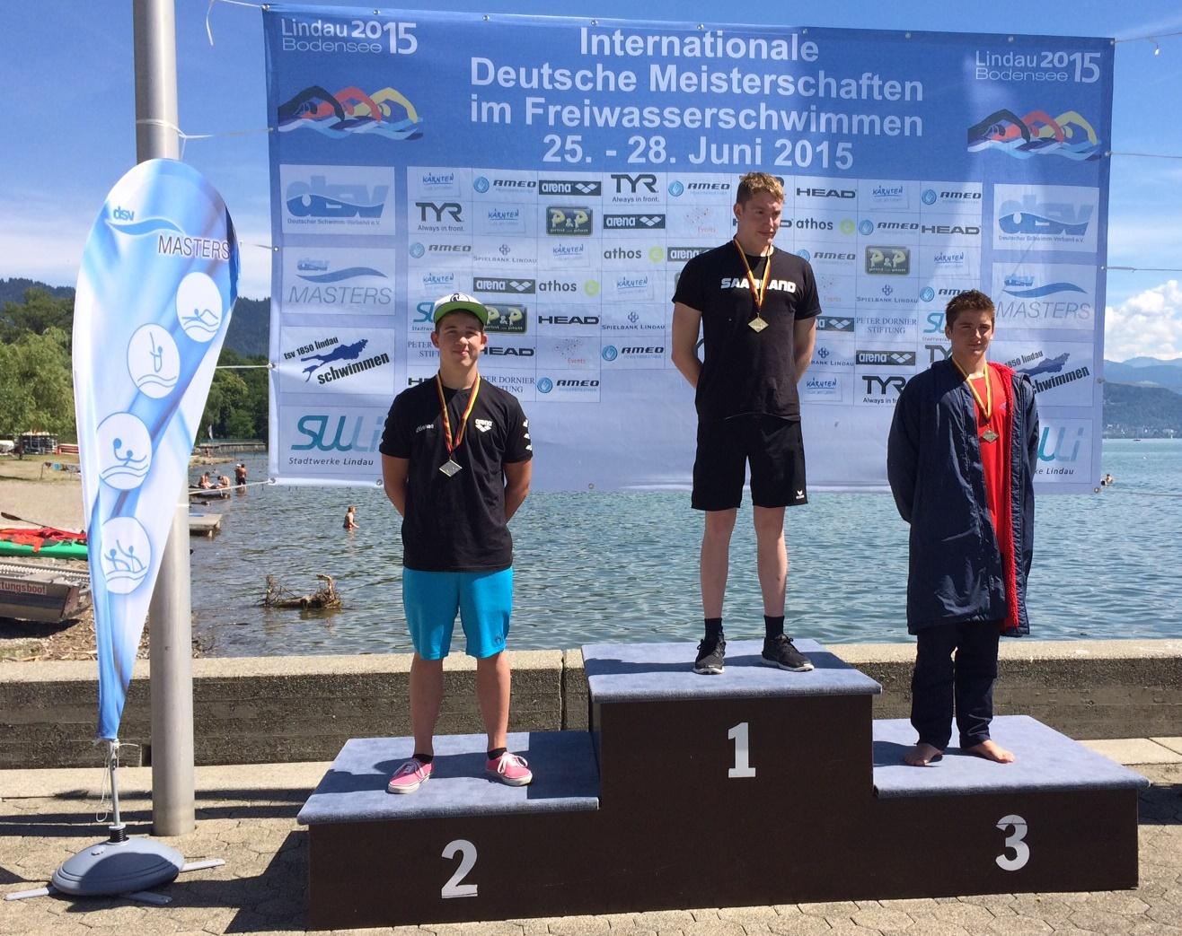 Lars Grundheber gewinnt Bronze über 2,5 km im Freiwasser