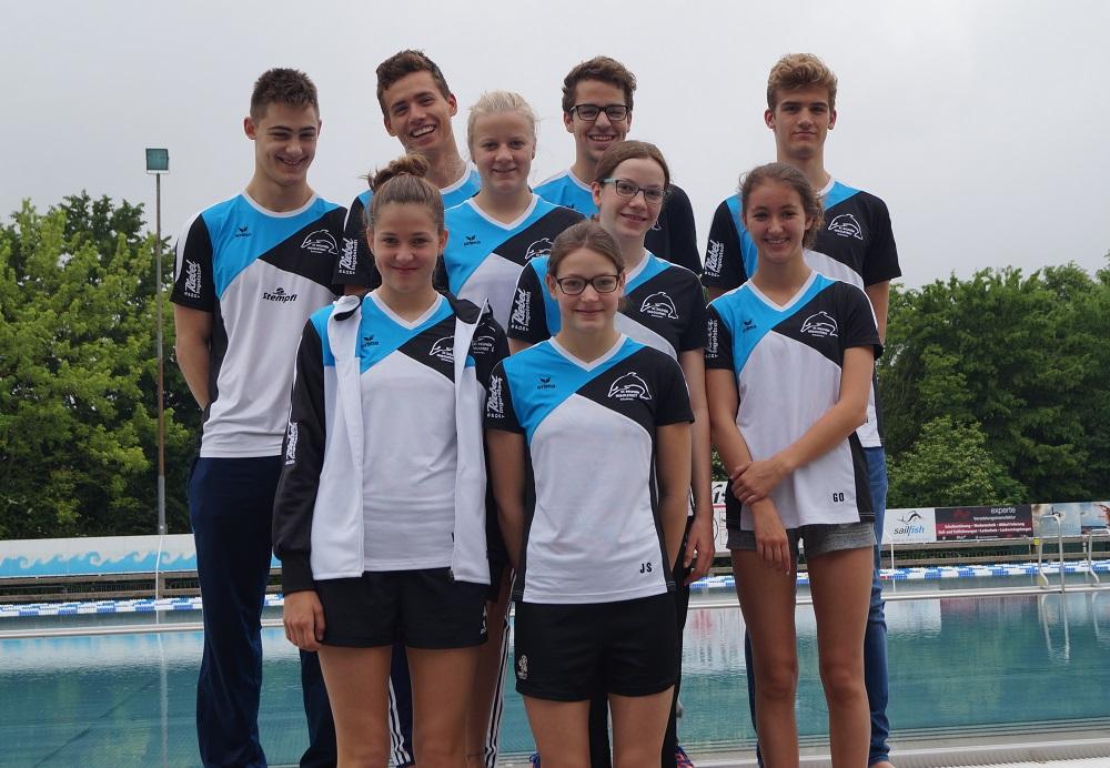 Delphin-Team bei den Süddeutschen Jahrgangsmeisterschaften in Darmstadt