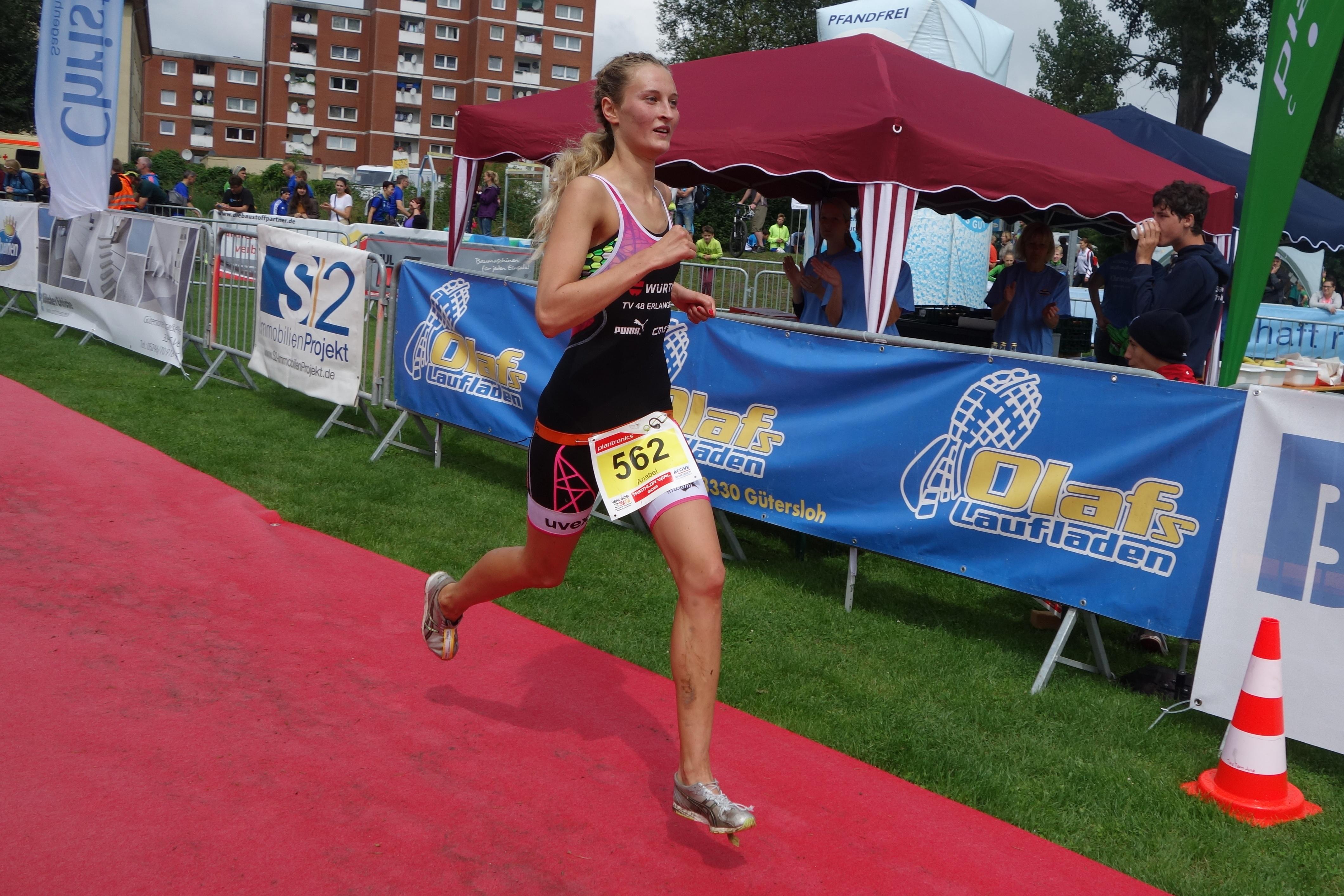 Anabel Knoll auf dem Weg zu Platz 3.