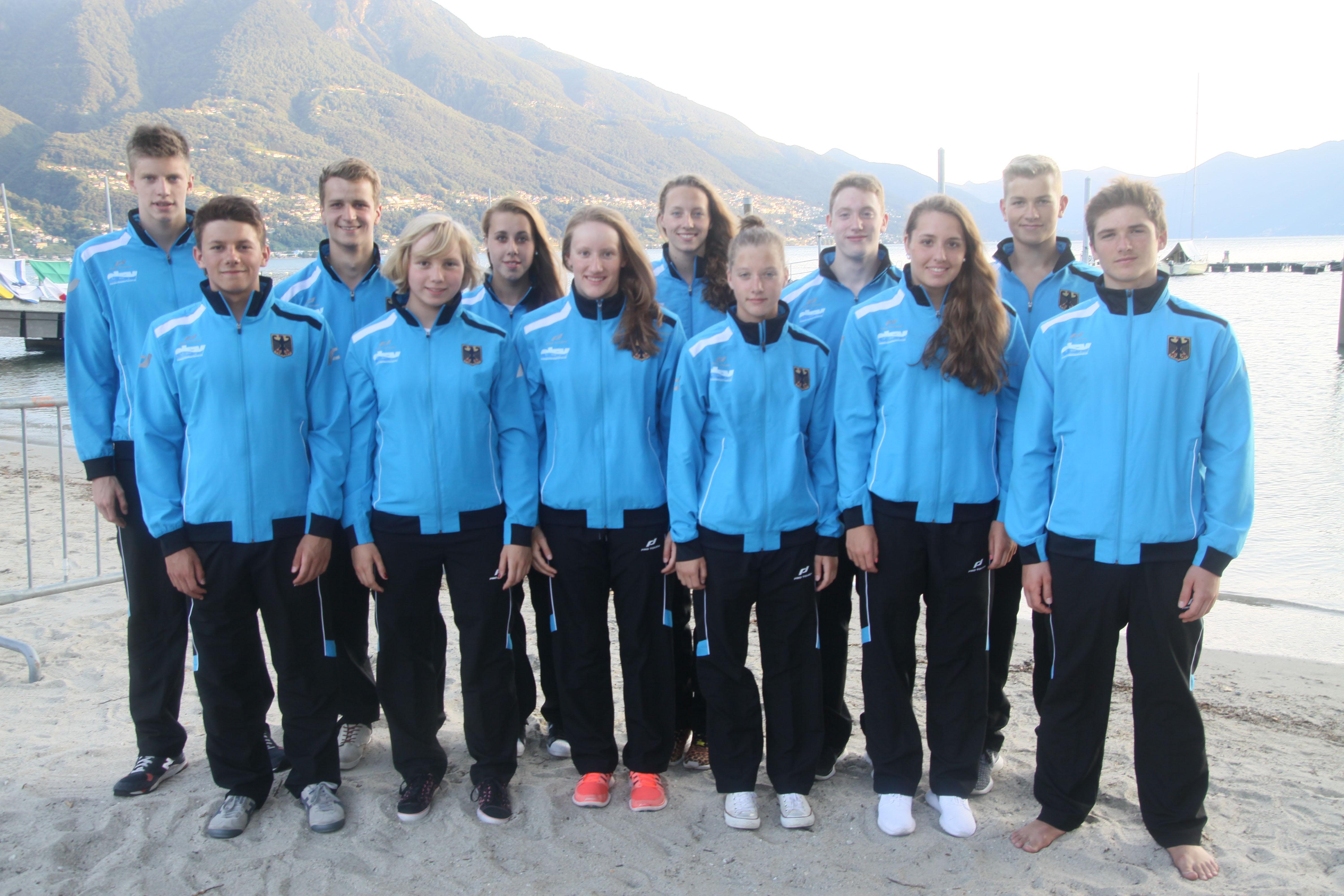 Freiwasser-Nationalmannschaft bei der Jugendeuropameiterschaft in Tenero/Schweiz