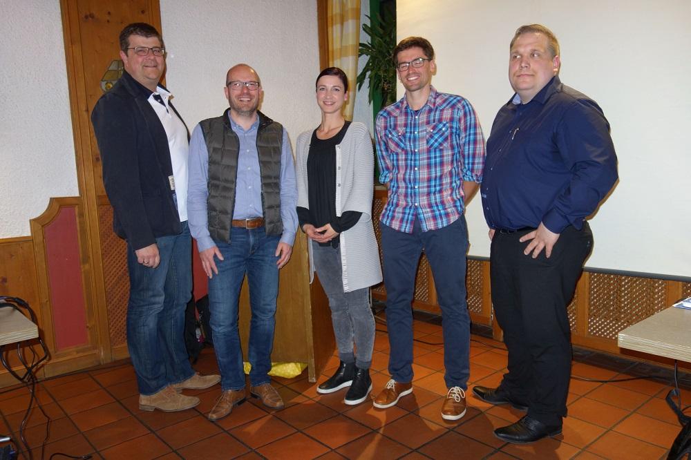 Neues Präsidium (v.l.): Jürgen Seidel, Christian Höbusch, Petra Drieling, Jean-Marcel Diegeler, Johannes Hägler [Foto: Bernd Westermann]